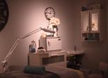 Polished massage room