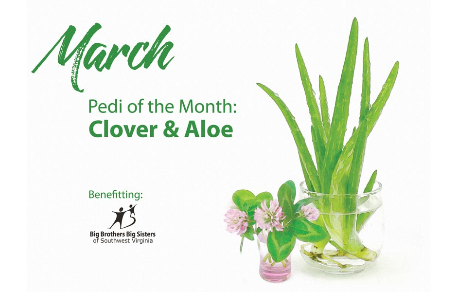 Polished March Pedi of the Month Clover & Aloe