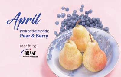 April Pedi of the Month: Pear & Berry